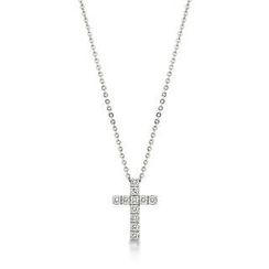 Kenny & co. - Full Crystal Cross Pendant With Necklace