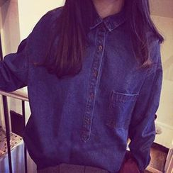 Eva Fashion - Loose Fit Denim Shirt