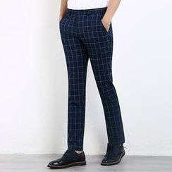 One on One - Check Dress Pants