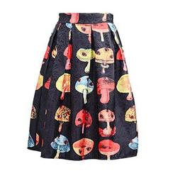 Flore - Printed Pleated Skirt