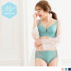 OrangeBear - French Lace Silk Lingerie Set