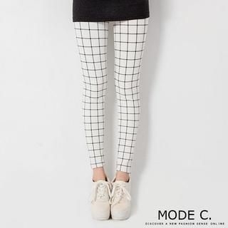 MODE C. - Plaid Leggings