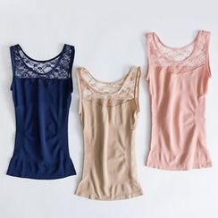 LA SHOP - Lace Panel Shaping Tank Top