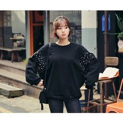 HOTPING - Faux-Pearl Fleece-Lined Pullover