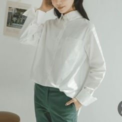 JUSTONE - Wide-Cuff Cotton Shirt