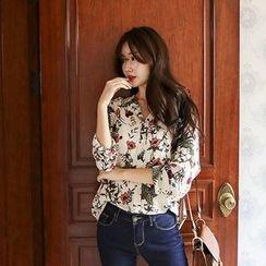 Seoul Fashion - Floral Print Blouse
