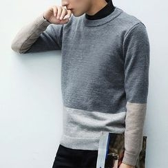 Really Point - Color Panel Sweater