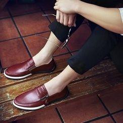 BINSHOU - 真皮拉链乐福鞋