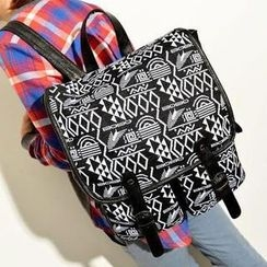 TAIPEI STAR - Canvas Patterned Backpack