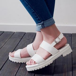 Mancienne - Block Heel Sandals
