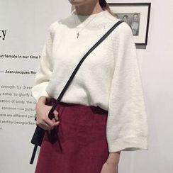 Cloud Nine - Plain Mock Neck Sweater