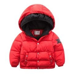 DEARIE - Kids Star Applique Hooded Padded Jacket