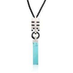 ZN Concept - Turquoise Pendant with Silk Cord