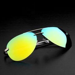 Raydem - Half Frame Aviator Sunglasses