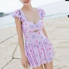 DJ Design - Floral Print Swimdress