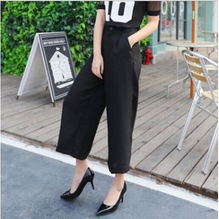 SUYISODA - Cropped Wide-leg Pants
