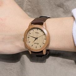 Heynew - Faux Leather Strap Watch