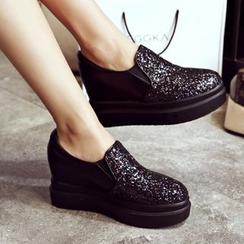 錦洋鞋業 - 厚底船跟輕便鞋
