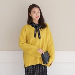 WITH IPUN - Drop-Shoulder Sweater