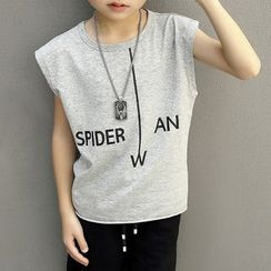 Yodina - Kids Lettering Sleeveless Top