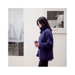 MASoeur - Turtle-Neck Cuffed-Sleeve Sweater