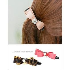 soo n soo - Embellished Bow Hair Clamp