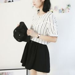 Ranche - Short-Sleeve Striped T-Shirt