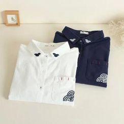 三木社 - 長袖刺繡襯衫