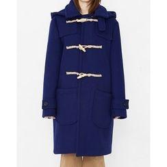 Someday, if - Hooded Wool Blend Duffle Coat