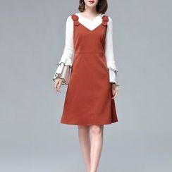 Sentubila - A-Line Pinafore Dress