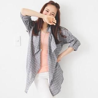 D.P-Shop - Plaid Lapel Jacket
