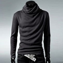 uninukoo - Cowl Neck Long-Sleeve T-Shirt