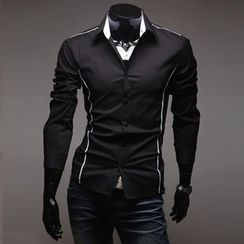 uninukoo - Contrast Trim Shirt