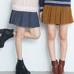 BAIMOMO - Pleated A-Line Skirt