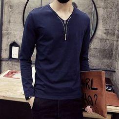 T for TOP - Long-Sleeve Zip T-Shirt
