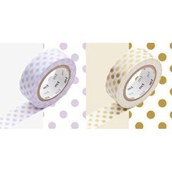 mt - mt Masking Tape : mt 2P Dots Light Purple x Gold