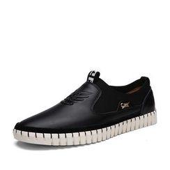 EnllerviiD - Genuine Leather Slip-Ons