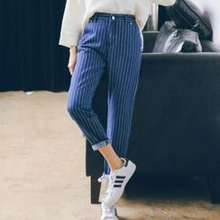 Jolly Club - Striped Tapered Jeans