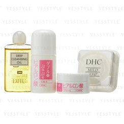 DHC - Double Moisture Mini Set: Deep Cleansing Oil 20ml + Lotion 30ml + Cream 10g + Mild Soap 10g