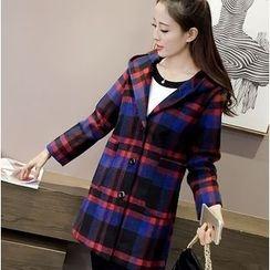 Oaksa - Check Hooded Coat