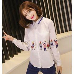 VIZZI - Print Long-Sleeve Shirt