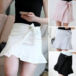Whitney's Shop - Bow Ruffle Skirt
