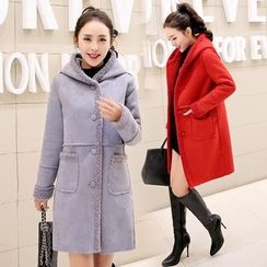 Romantica - Hooded Fleece-Lined Coat