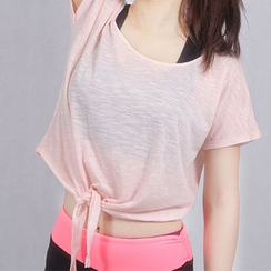 Lissom - Short-Sleeve Cropped Sport Top