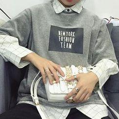 Bloombloom - Short-Sleeve Lettering T-Shirt