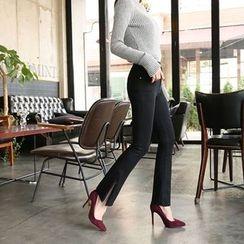 DABAGIRL - Zip-Hem Boot-Cut Pants