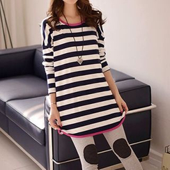 Lina - Striped Long T-Shirt