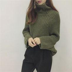 AMELA - 樽領粗織毛衣