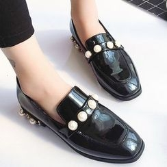 SouthBay Shoes - Faux Pearl Loafers