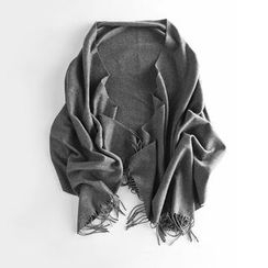 Richcoco - 散邊羊毛圍巾